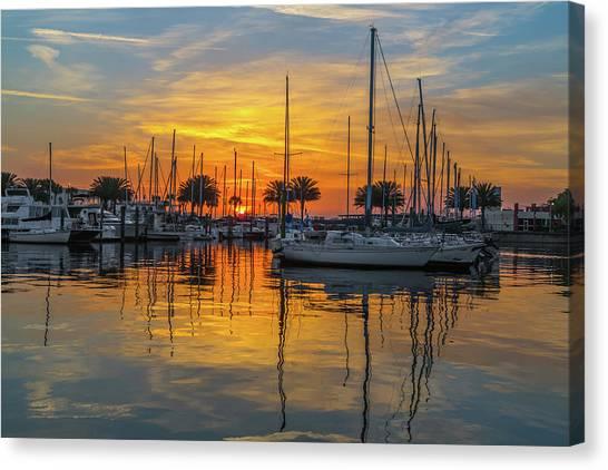 Marina Sunrise-2 Canvas Print