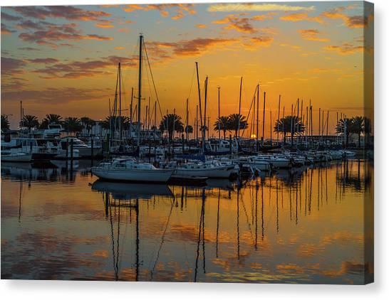 Marina Sunrise-3 Canvas Print