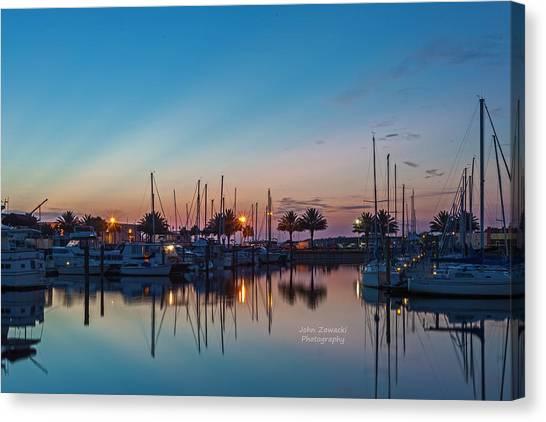 Marina Sunrise-4 Canvas Print