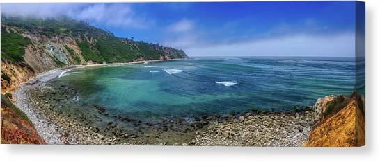 Marine Layer Over Bluff Cove Panorama Canvas Print