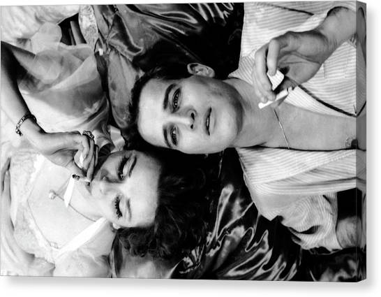Married Actors Joanne Woodward And Paul Canvas Print