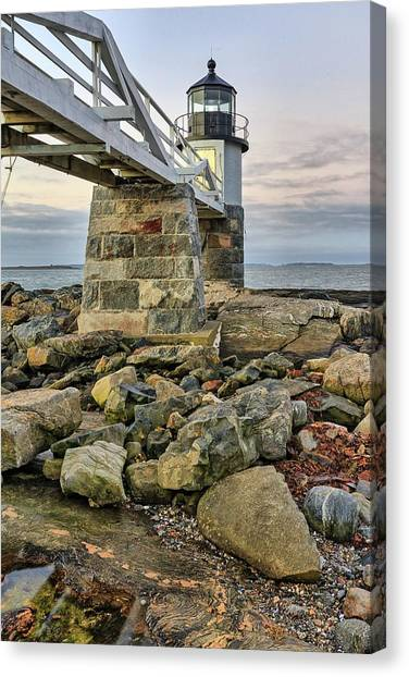 Marshall Point Light From The Rocks Canvas Print