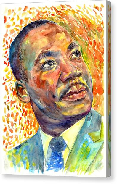 Nobel Canvas Print - Martin Luther King Jr Portrait by Suzann Sines