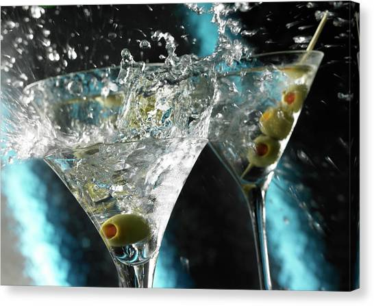 Martini Wild Splash Canvas Print