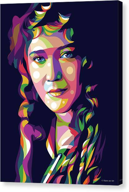 Mary Canvas Print - Mary Pickford by Stars-on- Art