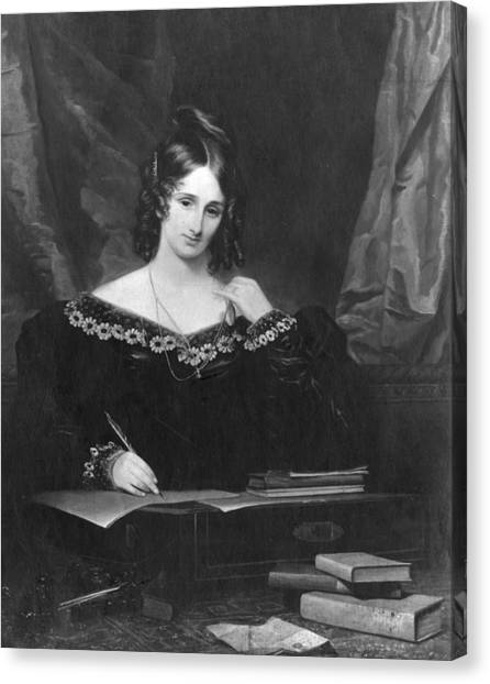 Mary Shelley Canvas Print by Hulton Archive