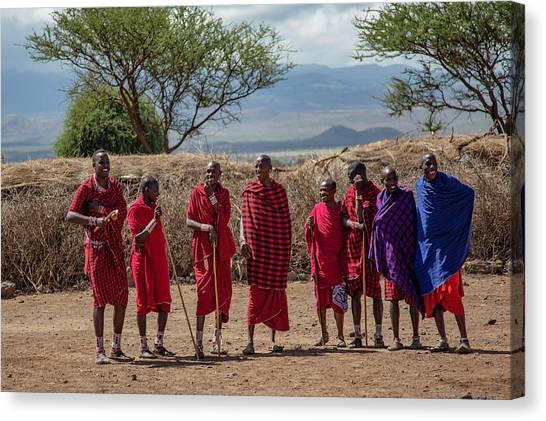 Maasai Men Canvas Print