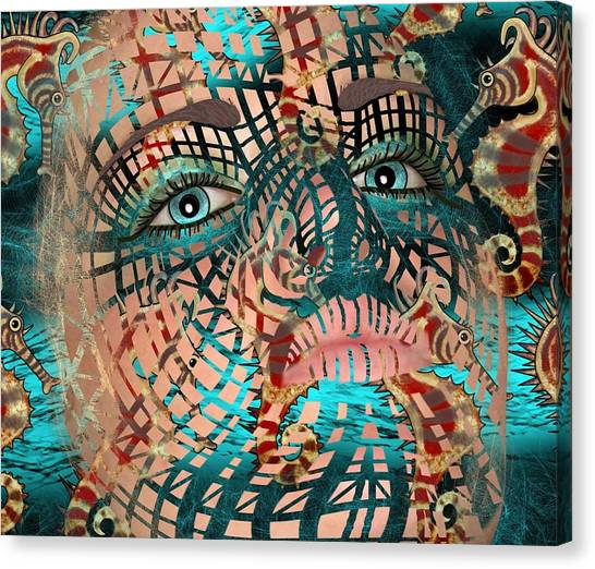 Mask Dreaming Of The Sea Canvas Print
