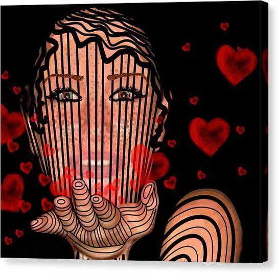 Mask Of Valentine Canvas Print