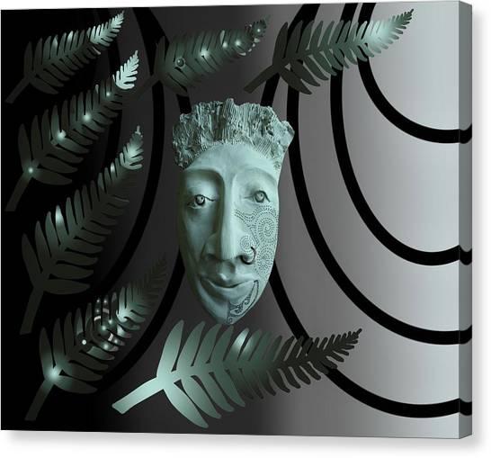 Mask The Maori Warrior Canvas Print