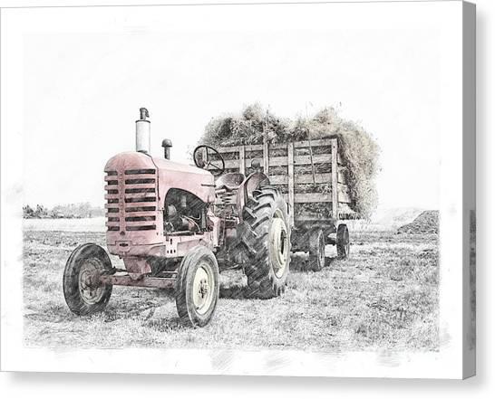 Canvas Print featuring the photograph Massey Harris by Brad Allen Fine Art