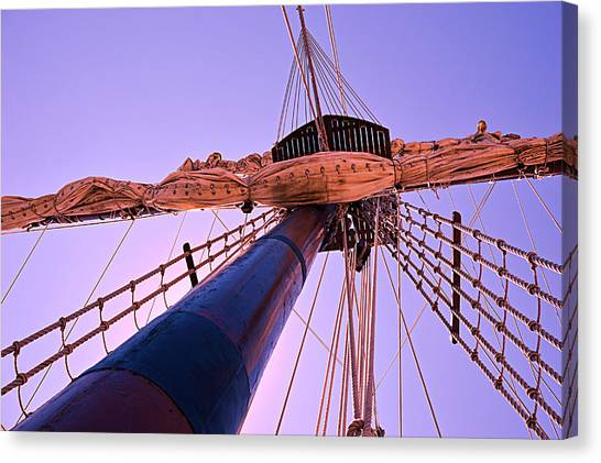 Mast And Sails Canvas Print