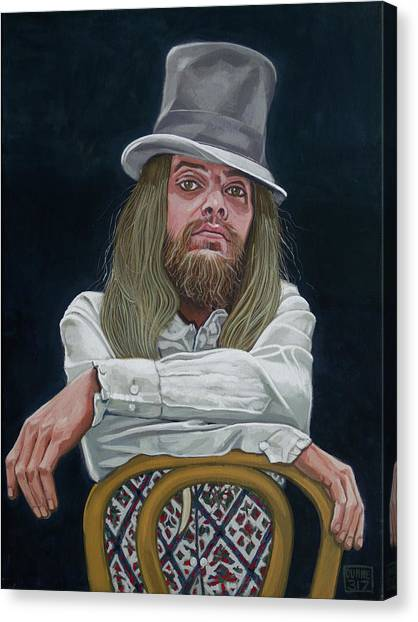 Leon Russell Canvas Print - Master Of Time And Space by Duane Potosky