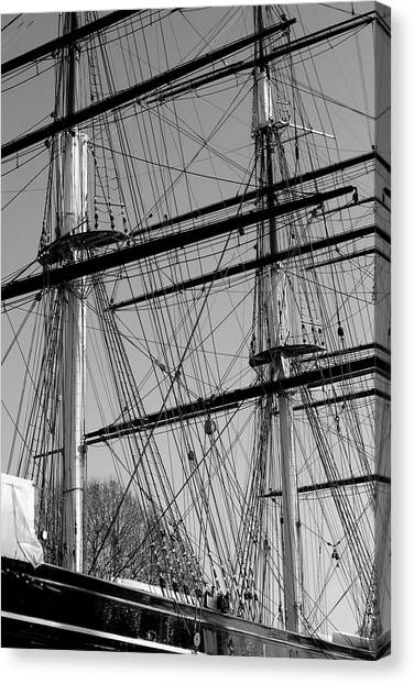 Masts And Rigging Of The Cutty Sark Canvas Print