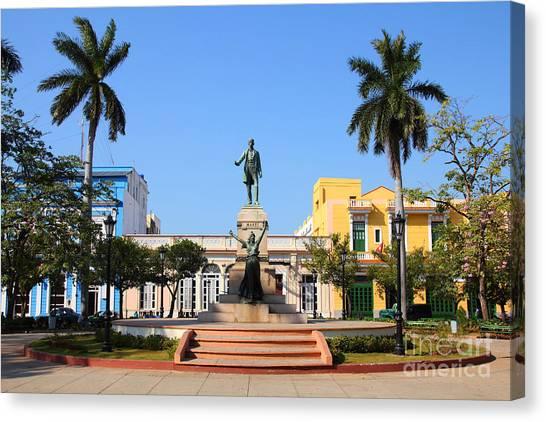 Town Canvas Print - Matanzas, Cuba - Main Square. Palm by Tupungato