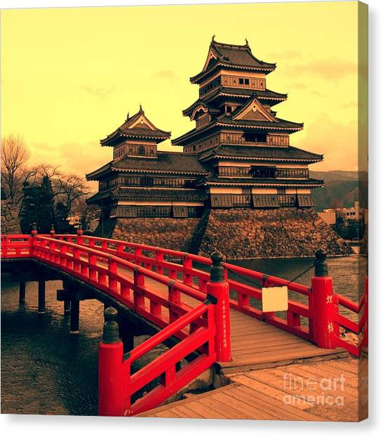 Fortification Canvas Print - Matsumoto Castle, Japan by Neale Cousland