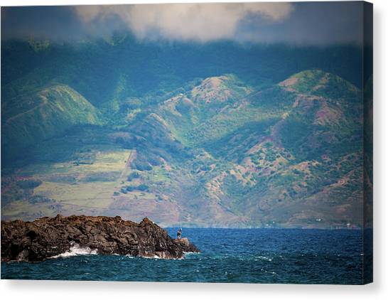 Maui Fisherman Canvas Print