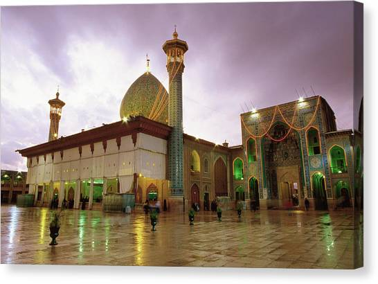 Mausoleum Of Shar-e Cheragh, Shiraz Canvas Print