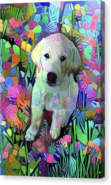 Max In The Garden Canvas Print