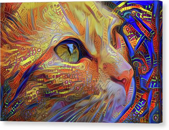 Max The Ginger Cat Canvas Print