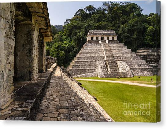 Mexico Canvas Print - Mayan Ruins In Palenque, Chiapas by Photoshooter2015