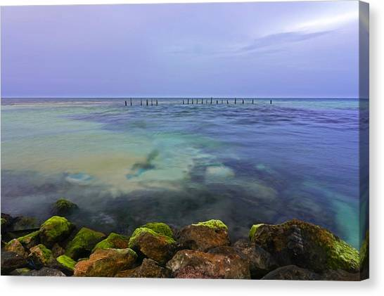 Mayan Sea Rocks Canvas Print