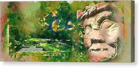 Mayan World Canvas Print