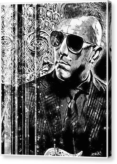 Maynard - Noir Series Canvas Print by Bobby Zeik