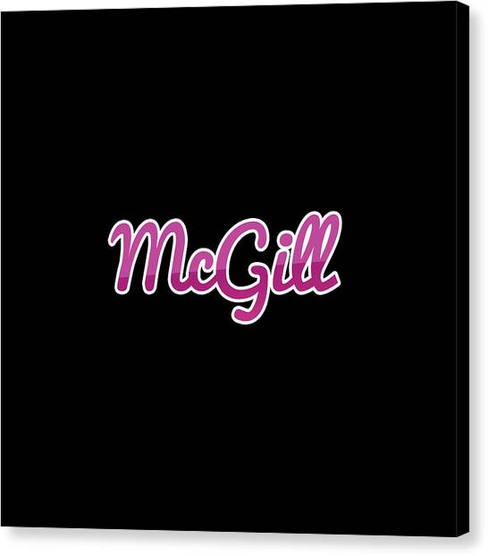 Canvas Print - Mcgill #mcgill by TintoDesigns