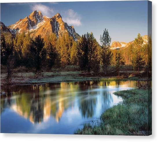 Idaho Canvas Print - Mcgown Peak Sunrise  by Leland D Howard