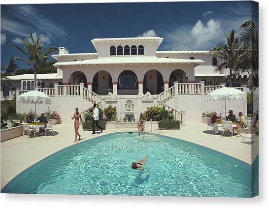 Mcmartin Villa Canvas Print by Slim Aarons