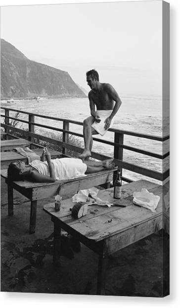 Mcqueen & Adams Relax In Big Sur Canvas Print