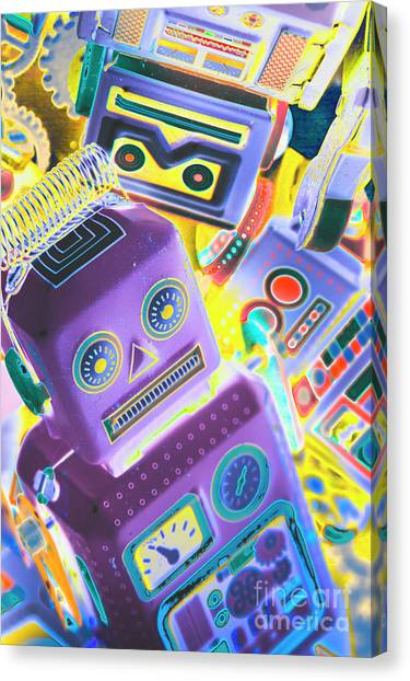 Droid Canvas Print - Mechanic Al Pop-art by Jorgo Photography - Wall Art Gallery