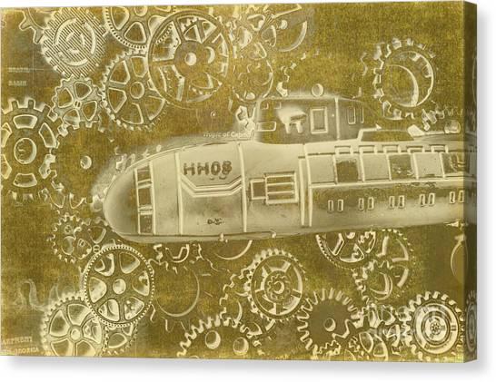 Submarine Canvas Print - Mechanical Sub Specs by Jorgo Photography - Wall Art Gallery