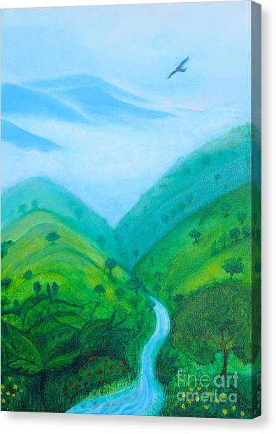 Canvas Print featuring the painting Medellin Natural by Gabrielle Wilson-Sealy