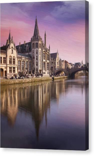 Gent Canvas Print - Medieval Old Town Ghent Belgium by Carol Japp