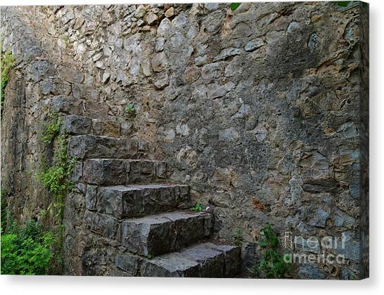 Medieval Wall Staircase Canvas Print
