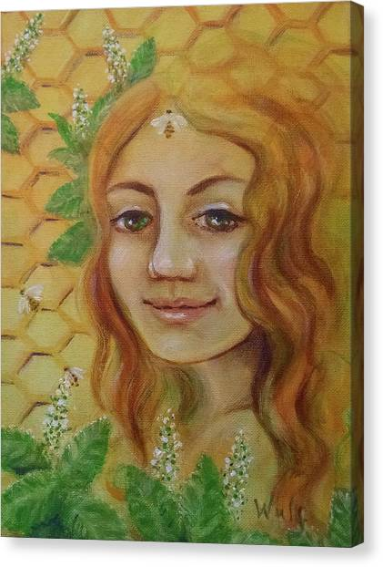 Melissa - Bee Goddess Canvas Print