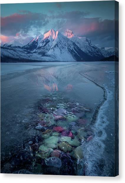 Melt, Freeze, Repeat / Late Winter / Lake Mcdonald, Glacier National Park  Canvas Print
