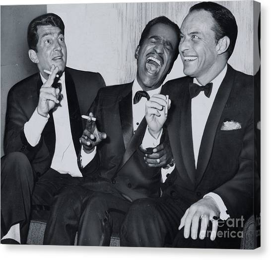Frank Sinatra Canvas Print - Members Of The Rat Pack At Carnegie Hall #1 by The Titanic Project