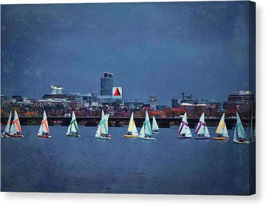 Canvas Print featuring the photograph Memorial Drive - Charles River - Boston, Ma by Joann Vitali