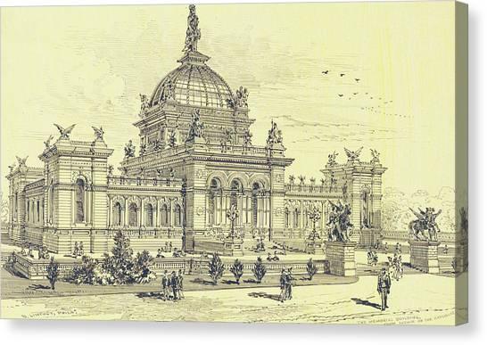 Memorial Hall, Centennial Canvas Print
