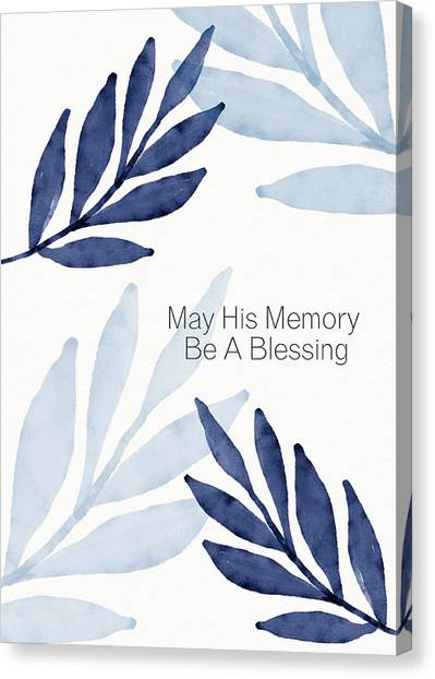 Sympathy Canvas Print - Memory Blessing Blue- Art By Linda Woods by Linda Woods