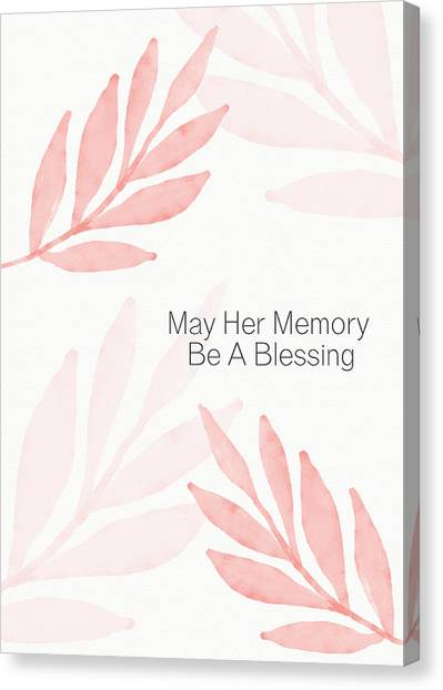 Sympathy Canvas Print - Memory Blessing Coral- Art By Linda Woods by Linda Woods