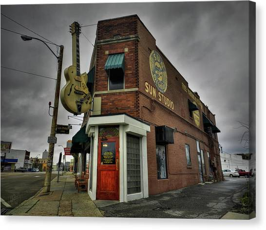 Canvas Print featuring the photograph Memphis - Sun Studio 004 by Lance Vaughn