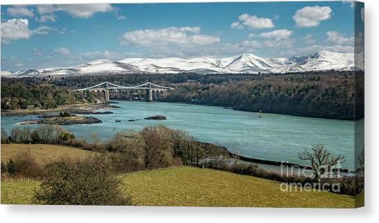 Canvas Print - Menai Bridge Anglesey by Adrian Evans