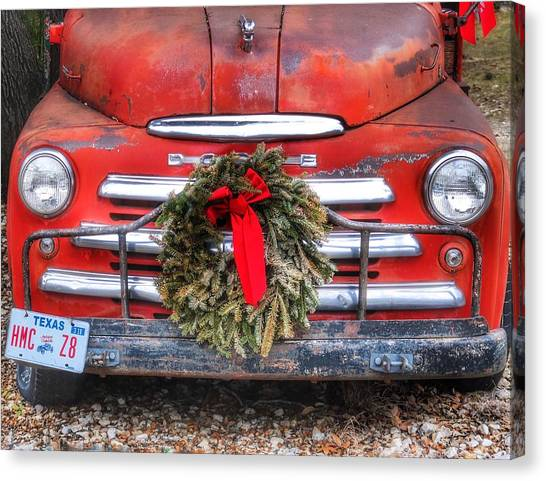 Merry Christmas Texas Canvas Print