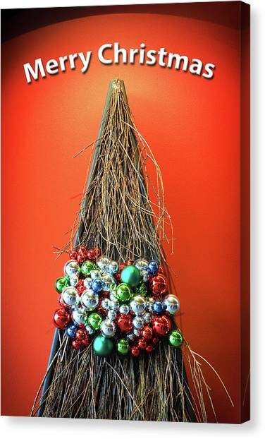 Canvas Print featuring the photograph Merry Christmas Twig Tree by Bill Swartwout Fine Art Photography