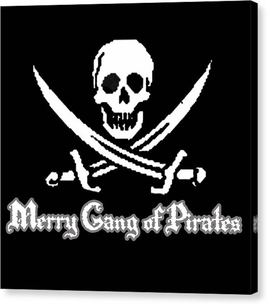 Merry Gang Of Pirates Canvas Print