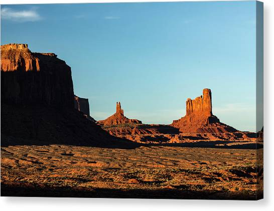 Mesa At Sunset, Monument Valley Tribal Canvas Print by Adam Jones